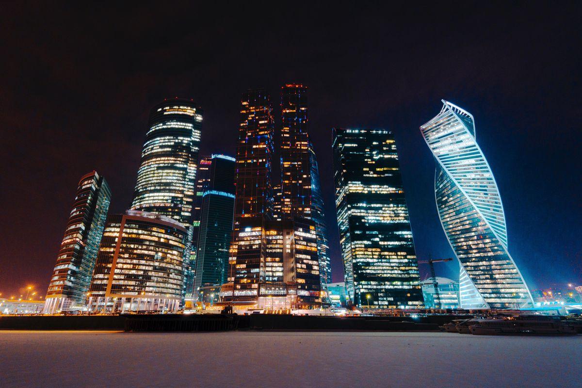 Фото москва сити ночью в хорошем